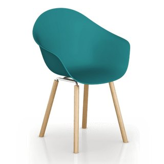 TOOU ArmShell Chair with oak legs (marine blue)