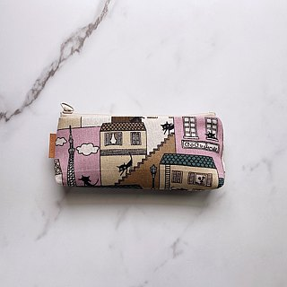 Handmade roof black cat pattern pencil case
