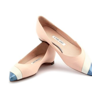 T FOR KENT|BLOSSOM  flats (White Pink)