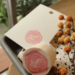 Hand-made rubber stamp - wax seal section (NO 2 S)