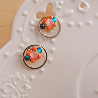 Shiny small stickers ear x colorful gemstones - no pain U-shaped ear clip stainless steel ear pin silicone ear