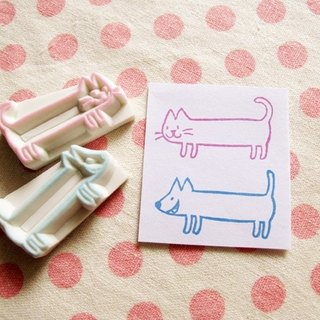 Apu handmade rubber stamp cats and dogs mini notes memo chapter 2 pieces group