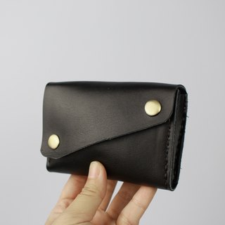 Leather purse all purpose for coin card and money notes black color