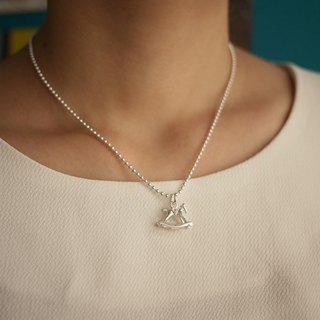 MUFFëL 925 Silver Silver Series - Romantic small horse necklace 2.0mm wave