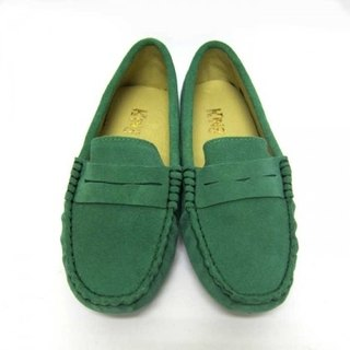 Fort Tony Wang handmade leather shoes (female) [frosted cow / bean bottom / green]