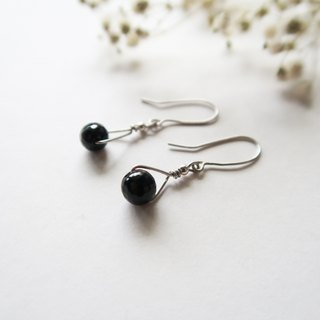 925 Silver Black Agate EarringsSold as a Pair