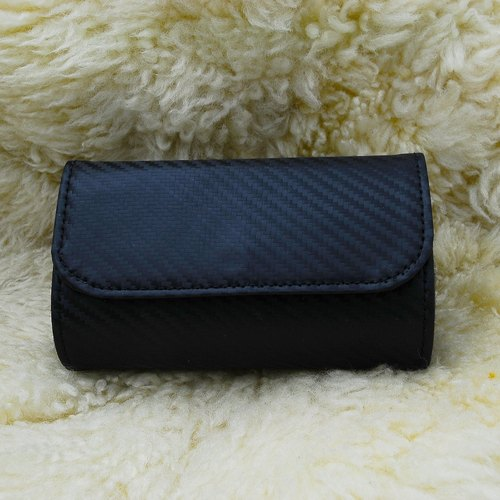 Fashion striae lozenge black patent purse sushi package (bundled with paragraph wrist band)