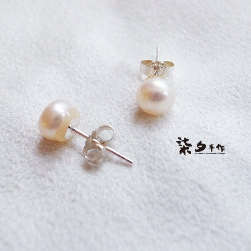 ☽ Qi Xi hand for ☽ pearl earrings 925 needles