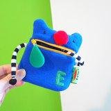 E*group 口水零錢包+手(紅鼻熊:灰色.藍綠色.天空藍)