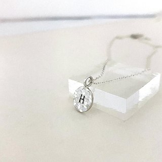 Personalized Stamp Initial Disc Necklace,Sterling Silver
