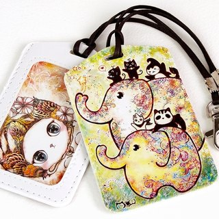Good meow Universal Card Case - Elephant flowering
