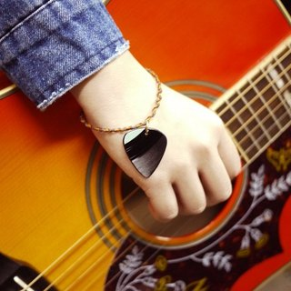 Hand vinyl guitar shrapnel Pick Woven Bracelet - Falling In Love With U (women's single)