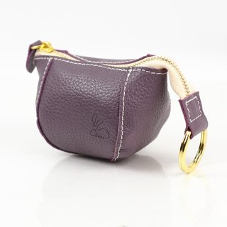 Limited time discount full rabbit rabbit purse / leather (deep purple)