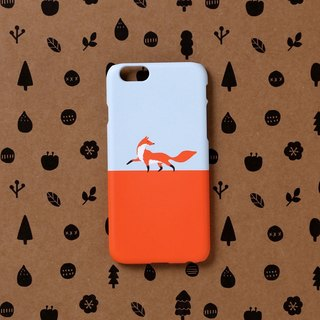 iPhone case - Fox walk for iPhones - non-glossy C08 - Designed in Korea