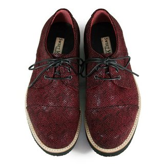 Hazel M1126B Burgundy leather sneakers