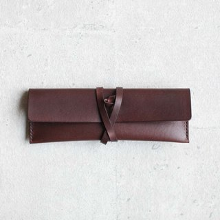 Dark Brown leather Pencil Case/Pen Pouch
