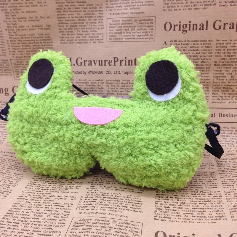 棉花糖動物眼罩-青蛙