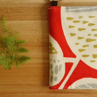 Kyoto fabric Passport Holder - Pastoral Recreation