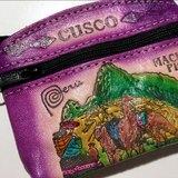 多彩祕魯復古圖紋拉鍊零錢/置物包-紫-馬丘比丘