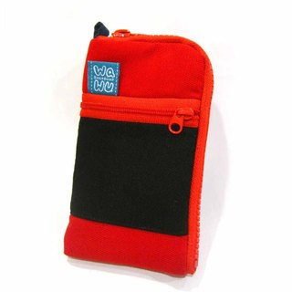 Mobile phone pocket (red & black)/ Cell phone case cover / mobile phone bag