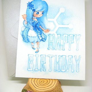 【Pin】Snow Fairy│Print│Birthday card with envelope at your choice