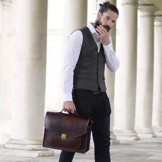 Peter classic leather briefcase