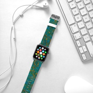 Apple Watch Series 1 , Series 2, Series 3 - Green Marble Pattern Watch Strap Band for Apple Watch / Apple Watch Sport - 38 mm / 42 mm avilable
