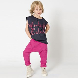 [Design] Sweden Nordic sports fashion clothing organic cotton trousers _ pink Shampoodle Kids