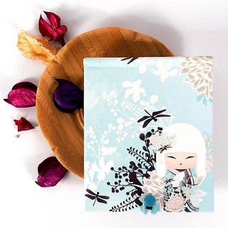 Notepad 85 pages with mirror - Miyuna elegant noble Kimmidoll notebook / diary