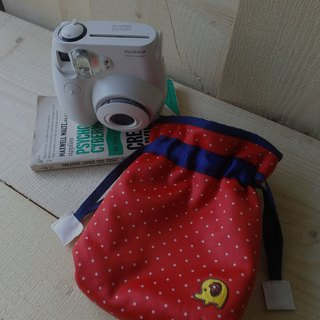 HiDots marshmallow Polaroid Pouch (red white dot * Elephant)