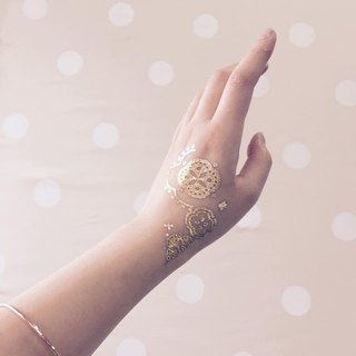 Not Real Tattoo - Boho / Metallic temporary tattoo