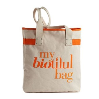 法國my biotiful bag有機棉Tote Bag-Orange