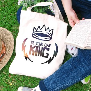 Be your own king Straight canvas bag