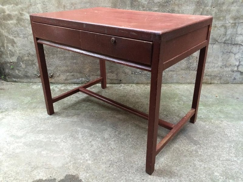 Antique old cypress wood desk desk bauhaus products industry wind rural  grocery zakka pop style loft Nordic eames coffee cultural and creative lomo
