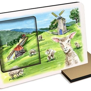 Taiwan's top ten tourist attractions ~ Nantou Qingjing Farm ~ 30 seconds sound and light recording card postcard photo frames souvenirs