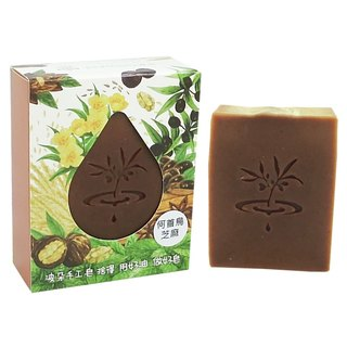 [Duo] wave PoDo Polygonum sesame soap - into a single gift set (soap, body care and scalp)