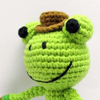 Gentleman Frog - baby rattle - Hand births ceremony