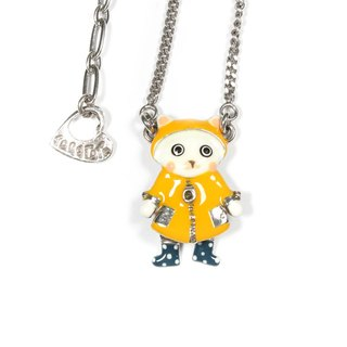 [Taratata classic handmade necklace] Paris, France classic yellow raincoat raging cold enamel European style Necklace