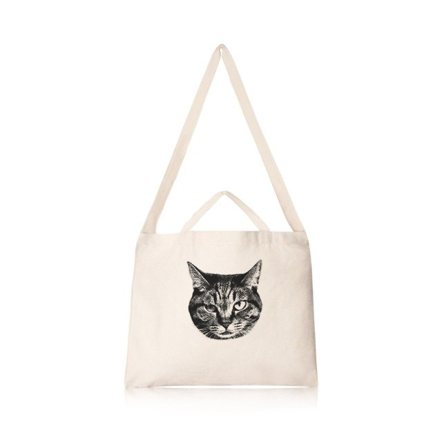 米克斯貓 文創風橫式帆布包