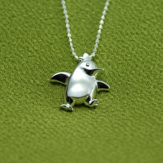 Moon Gift【Wonderland】Baby Penguin (A) 925 Silver Necklace