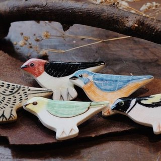 Stray birds § brooch