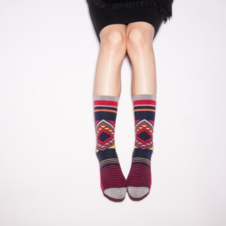 MIT smile striped stockings mark combed geometry (male and female in two sizes)