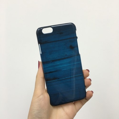 Wood blue navy timber wood 04 3D Full Wrap Phone Case, available for  iPhone 7, iPhone 7 Plus, iPhone 6s, iPhone 6s Plus, iPhone 5/5s, iPhone 5c, iPhone 4/4s, Samsung Galaxy S7, S7 Edge, S6 Edge Plus, S6, S6 Edge, S5 S4 S3  Samsung Galaxy Note 5, Note 4, N