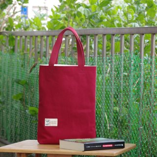 Tote bag running everywhere in the medium long dark red