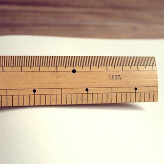 Nantou scale does not cut bamboo ruler
