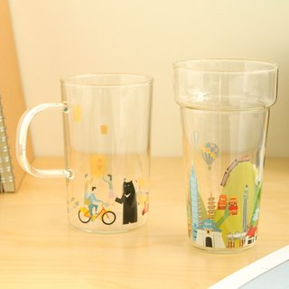 Around-the-World Cups Set– Heat-resistant Glass Cups Set : Taiwan