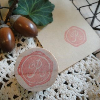 Hand-made rubber stamp - wax seal chapter (resolution 1 R)