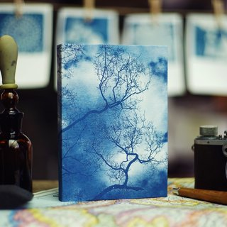Handmade cyanotype notebook - sky shadows