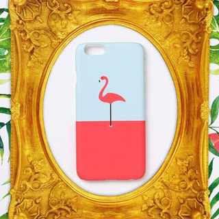 iPhone case - A flamingo / pink on mint - for iPhones and - non-glossy C09 - Des