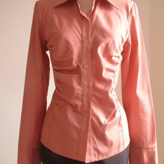 Plain long-sleeved shirt - Brick Red